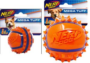 NERF Dog Two-Tone TPR Spike Ball Dental Mega Tuff Fetch Retrieve Play Chase