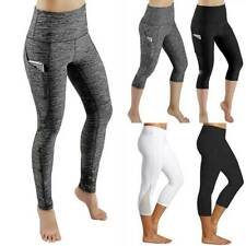 Womens High Waist Yoga Leggings Pocket Pants Fitness Sport Gym Workout Trousers