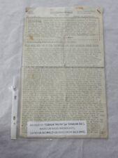 TOBRUK TRUTH  19 OCT 1941   RARE NEWSLETTER AUTHENTIC
