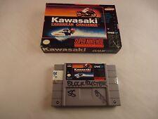 Kawasaki Caribbean Challenge (Super Nintendo SNES) w/ Box game WORKS!