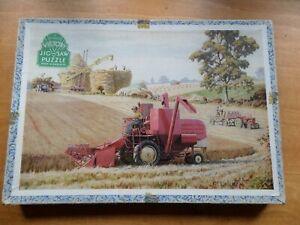 VINTAGE VICTORY WOODEN JIGSAW PUZZLE - Combine Harvester - 150 pieces