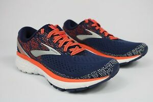 Brooks Womens Ghost 11 Navy Coral Grey Running Trainers