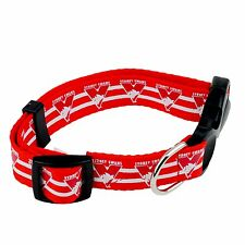 AFL Sydney Swans Large DOG COLLAR - Love your team!