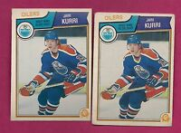 2 X 1983-84 OPC # 34 OILERS JARI KURRI  CARD (INV# A1753)
