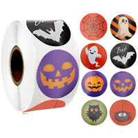 Halloween Paper Label Stickers Pumpkin Round Labels Candy Bag Box Seal Sticke YK