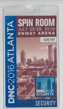 House of Cards Screen Used 2016 Dnc Pass Season 4 & 5 Spin Room Security Pass