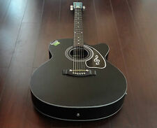 Givson Acoustic Guitar (Venus Special) - Black Matt with Pick-up point.