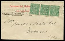 5 March 1924 commercial cover flown Perth - Broome by Western Australian Airways