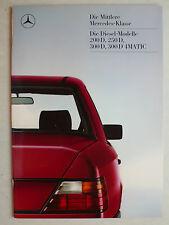 Prospekt Mercedes W 124: 200 D, 250 D, 300 D, 300 D 4Matic, 12.1986, 32 Seiten