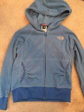 The North Face Girls Blue Fleece Jacket Sweater Zip Up Small