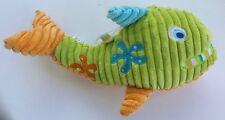 "Burton & Burton Whale Plush Fish Baby Rattle Sea Green Blue Orange Starfish 13"""