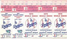 1973 Los Angeles Dodgers Phantom World Series Tickets Block of 5 NRMT