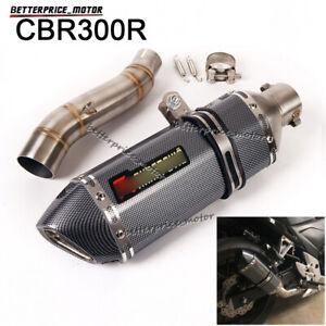 For Honda CBR300R CB300F 2011-2018 Slip On Exhaust Muffler Pipe Link Mid Pipe