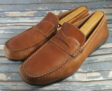 Rockport Chaden Mens Slip-On Brown Leather Driving Moc Penny Loafers Shoes 9.5 M