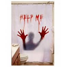 'Help Me' Psycho Horror Halloween Blood Shower Curtain Party Decoration