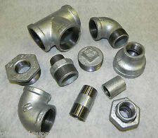 "GALVANISED MALLEABLE IRON PIPE FITTINGS BSP 1/8"" To 4""  GALV  - PNEUMATIC"
