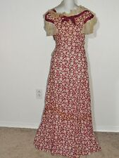 Boardwalk Empire Worn 1930's Burgundy Cotton Dress w Circle Skirt SM
