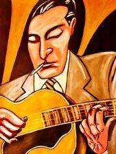 DJANGO REINHARDT PRINT poster jazz archtop guitar anthology cd hot club france