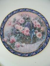 Lena Liu's Roses Basket Bouquets Floral Collector Plate W. S. George First Issue