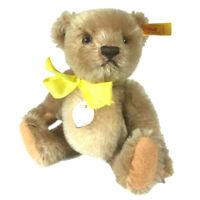 "Steiff Teddy 1955 replica #029974 plush bear mohair 7"" tags B"