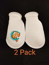 "Two Pack 4"" Filter Socks 4""x10"" Felt 200 Micron sock Aquarium Reef Wet Dry Sump"