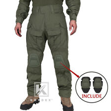 KRYDEX G3 Combat Trouser Tactical Pants Army Clothing w/ Knee Pads Ranger Green