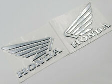 3D Raise Fuel Tank Badge Fairing Emblems Decal for Honda Wing Silver 90mm x 70mm