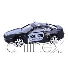 Coche Policía Blanco y Negro Escala 1:64 Juguete Niños a1805