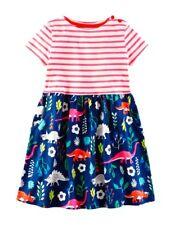 New MINI BODEN Girls Florasaurus Hotchpotch  Jersey Dress Size 3-4