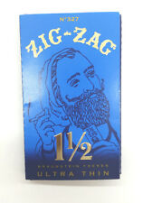 1 LOT 12 PK Zig Zag Blue Ultra Thin 1.5 1 1/2 Cigarette Rolling Paper Authentic