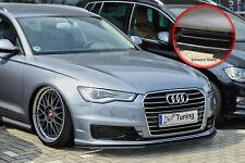 Spoilerschwert Frontspoiler Lippe ABS für Audi A6 C7 4G Facelift schwarz Glanz