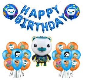 Octonauts Barnacals Birthday Party Kids Ocean animals Balloons Banner Bunting