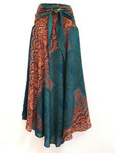 Women Sarong Long Skirt coconut Hippie Gypsy Lagenlook Bohemian Boho Smock CSR