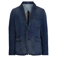 $448 Polo Ralph Lauren Mens Soft Denim Navy Indigo Blazer Sportcoat Jacket NWT