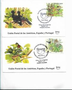 COLOMBIA 2003 FAUNA & FLORA AMERICA UPAEP MONKEY BIRDS DUCK WILDLIFE TREES FDC