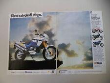 advertising Pubblicità 1989 MOTO YAMAHA XTZ 750 SUPER TENERE' SUPERTENERE'