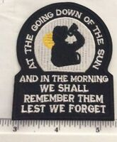 ANZAC DAY THE OATH IRON ON PATCH  BUY 2 of these GET 1 of these FREE = 3