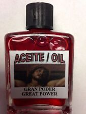 SPIRITUAL OIL (ACEITE) FOR SPELLS & ANOINTING 1/2 OZ - GREAT POWER (GRAN PODER)