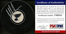 Martin Brodeur St. Louis Blues New Jersey Devils Signed Auto Puck PSA/DNA COA #1