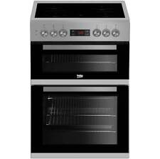Beko KDC653S Standing Electric Cooker With Ceramic Hob 60cm Silver