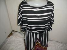 WOMENS DRESS SZ XL BY J.F.W BLACK STRIPED TIE BELT ELASTIC WAIST NWOT   CLOTHING