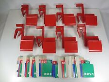 8 Used Bridge Bidding Boxes Holders Kit Bidding Device Table Clamp w/ Cards