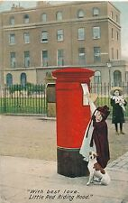 POSTCARD  COMIC  Post  Box  Little Red Riding Hood