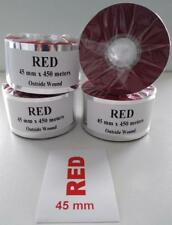 More details for thermal transfer ribbon red, 45mm x 450 meters for zebra, godex,type printers
