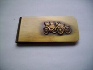 Men's Gift-Solid Brass  Money Clip- 2 SEATER ANTIQUE CAR  DESIGN- INGA
