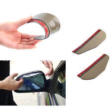 2X Universal Rear View Side Mirror  Flexible Rain Board Sun Visor Shade For BMW