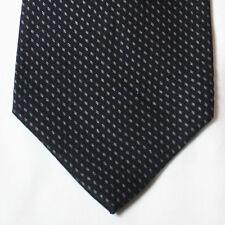 NEW Milano Uomo Silk Neck Tie Black with Silver Pattern 278