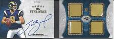 Sam Bradford Auto 4 Jersey Card 2010 Topps 5 Five Star 07/10 Rookie Booklet RC