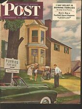 SEPT 30 1950 SATURDAY EVENING POST magazine cover print - PUPPIES FOR SALE