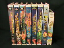 Land Before Time Lot VHS Clamshell Cases Volume 2-9 Dinosaurs Little Foot